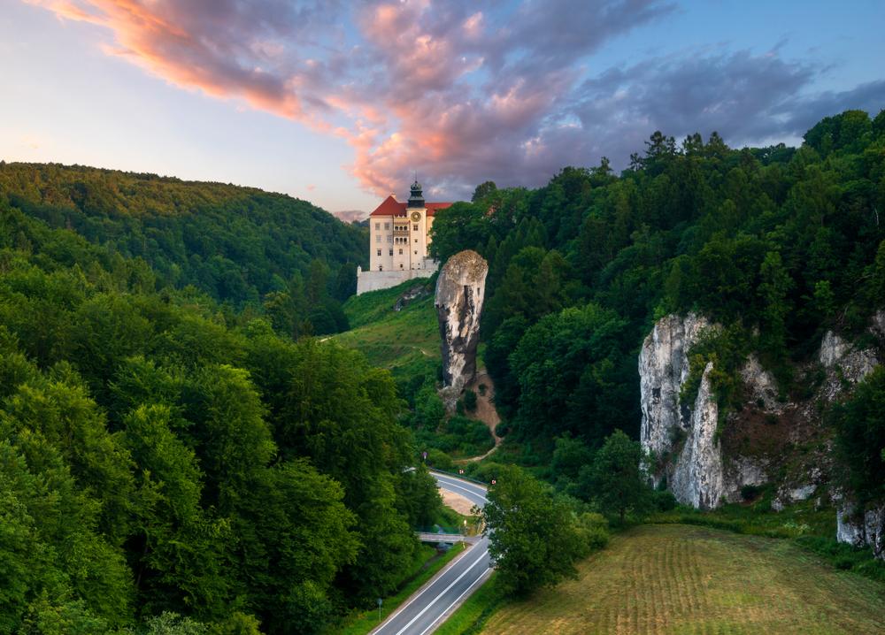 Castle in Pieskowa Skala in Polish Jurassic Upland