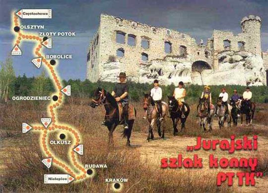 Jura's horse trekking trail