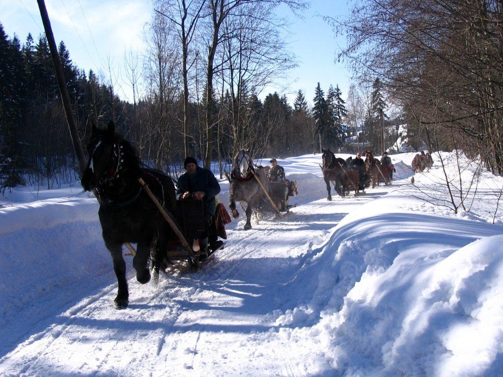 Kulig- traditional Polish winter attraction