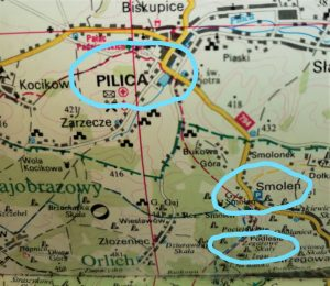 Map of Smolen and Pilica area